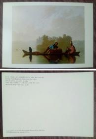 外国二手明信片,博物馆原版,美国宾厄姆名画,美术绘画,品如图