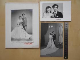老照片【80年代,婚纱照3张】