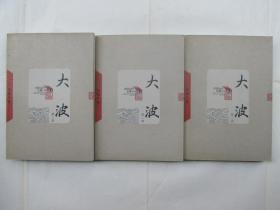 中国当代长篇小说藏本:大波(全三册)
