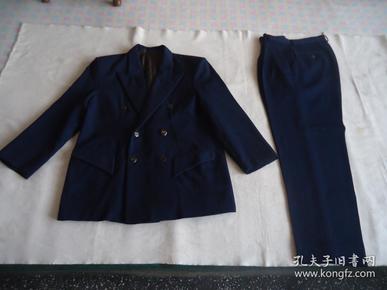 金盾服装系列蓝色毛料西服一套