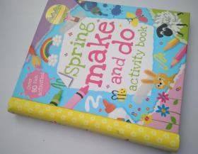 春天户外手工制作书 Spring make and do Activity book英文原版儿童书