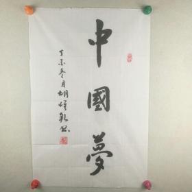 保真将军字画【胡怀乾】  书法《中国梦》  45.5*69.5cm