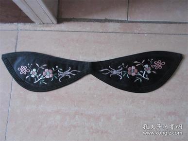 手工老刺绣品梅花寿字发围子老人帽子抹额收藏品民风民俗影视道具