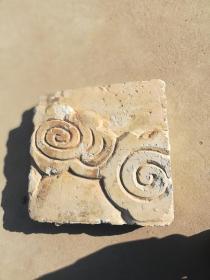 砖雕;古砖花纹砖一块
