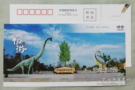 河南恐龙遗迹园---优惠明信片门票-(较少)