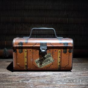 民国铁皮罐铁皮桶提盒糖果饼干茶叶铁盒