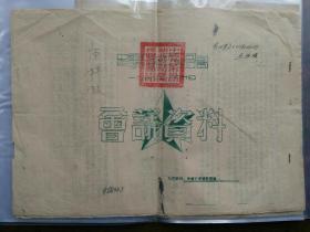 1954年中国花纱布公司湖北省分公司新洲采购批发商店会议资料一份(原棉股,四页全),包快递。