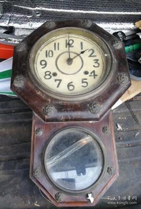 特价民国古董钟表挂钟八边造型包老稀少品种周边铜装饰