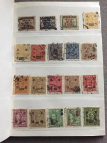民国邮票一册 100枚基本无重复 保老保真 有改值票、满洲国邮票、烈士邮票、伪政府邮票等等一起合售 都以前自己一点一点收集的,现在不玩了,特价处理 带邮册 还可以放不少邮票