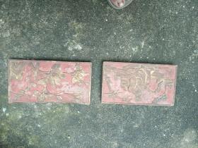 潮州金漆木雕,两块
