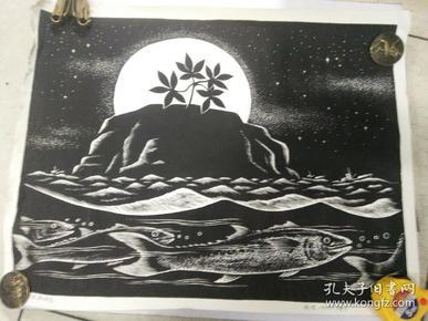 版画(月夜棒捶岛)
