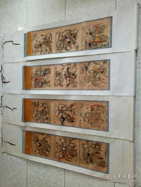 木板年画    三国演义