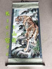下乡收到老画一张,上山虎,保存完整,品相尺寸如图