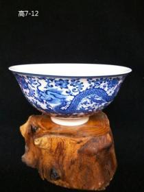 绝版老货 民国仿明代青花瓷碗 景德镇老瓷器(包老)古玩收藏摆12