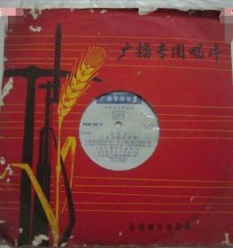 广播专用唱片:音乐会-人民公社红旗飘PKM-109,带语录专用唱片封套