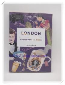 伦敦餐馆复古摄影集London,Restaurants &More样板房装饰紫色真书
