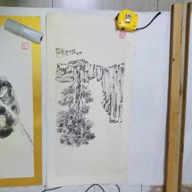 西安美术学院老校长著名画家陈启南国画作品一组