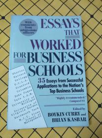 ESSAYS THAT WORKED FOR BUSINESS SCHOOLS(英文原版)