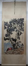 清风阁画廊-著名书画家-徐悲鸿-双马(纯手绘)-立轴-3021