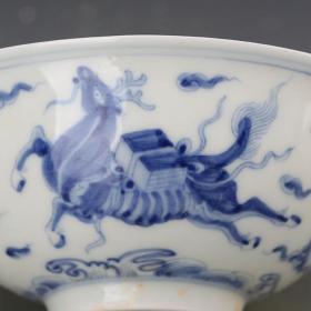 青花飞马纹薄胎小碗