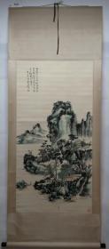 清风阁画廊-著名画家-黄宾虹-山水(纯手绘)-立轴-3025