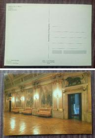 外国明信片,葡萄牙原版,国会大厅壁画,品如图