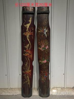 民国时期美女七弦琴,做工精细,包浆自然 画工精美  品相完整1200一把