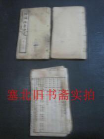 民国上海源记书庄石印小开本-取吉便览 两册 15*9.2CM