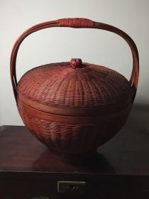 精美,民国建国初期竹盒