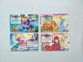网通ic卡 电话卡 2003-s10(4全) 水晶鞋 天津 套卡
