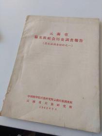 云南省崩龙族社会历史调查报告 崩龙族调查材料之一