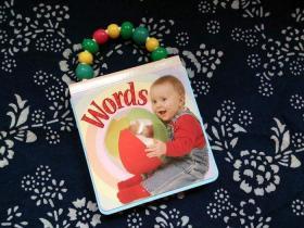 带珠珠手柄的小小孩纸板书  baby fun Words