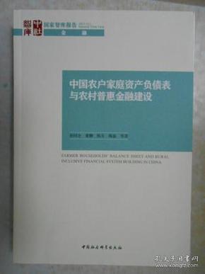 中国农户家庭资产负债表与农村普惠金融建设