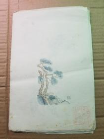 五六十年代朵云轩出品木刻水印信笺一组44张