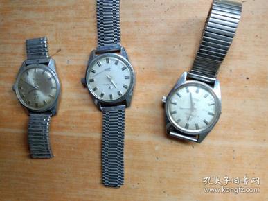上海.钻石牌机械手表3只合售