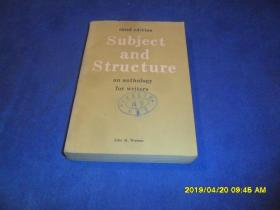 Subject and Structure