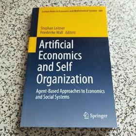 Artiflcial economics and self organization