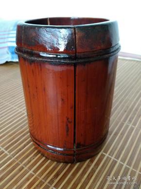 七十年代竹制米升筒