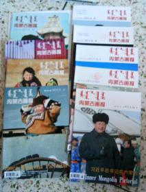 内蒙古画报(2014年第1,2,3,5,6期,2013年第2,3,4,5期)9本合售
