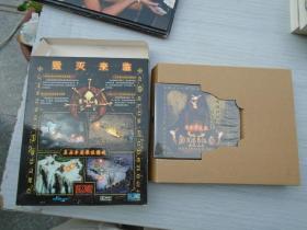 黑暗破坏神2 毁灭之王 2碟+说明书2本+游戏安装指南1本+原包装盒。原装正版 品好。详见书影