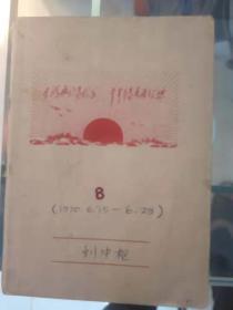 工人诗人刘中枢笔记一本