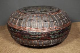 老漆器圆盒