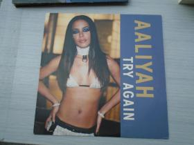 AALIYAH TRY AGAIN (大黑胶唱片,原版外文唱片,1盘,品好,无划痕。只发快递。详见书影)