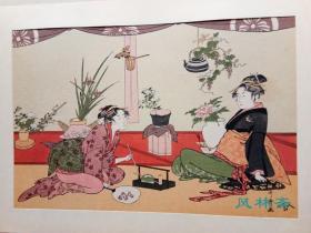 复刻浮世绘美人画 喜多川歌麿 生花 日本花道 古典插花艺术