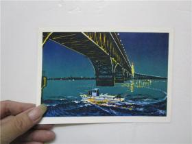 32开文革宣传画 夜巡(版画)(规格;18X13cm )