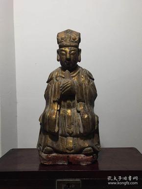 清代民国,老木雕佛像