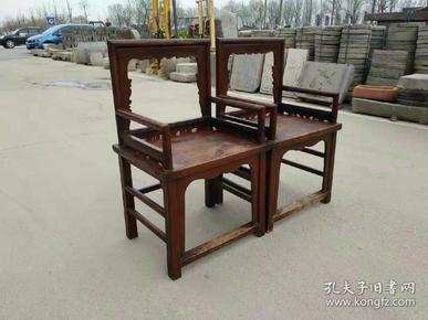 清代榆木玫瑰椅;全品无修补;皮壳老辣;年代感十足;尺寸98/52cm