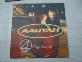 AALIYAH 4  pageletter(大黑胶唱片,原版外文唱片,1盘,品好。只发快递。详见书影)