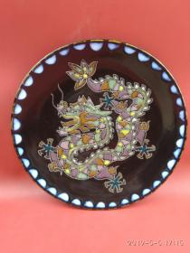 生肖辰龙挂盘 赏盘 淄博立粉彩陶中国工艺美术大师朱一圭设计风格