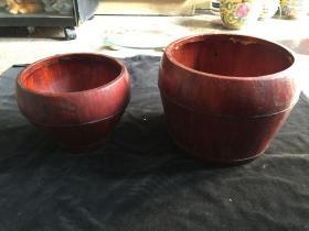 民俗老物件木桶 储存桶古玩古董收藏  一大一小合售价可单卖